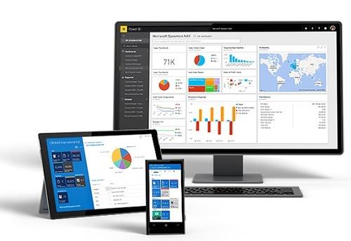 Giao diện Microsoft Dynamics NAV