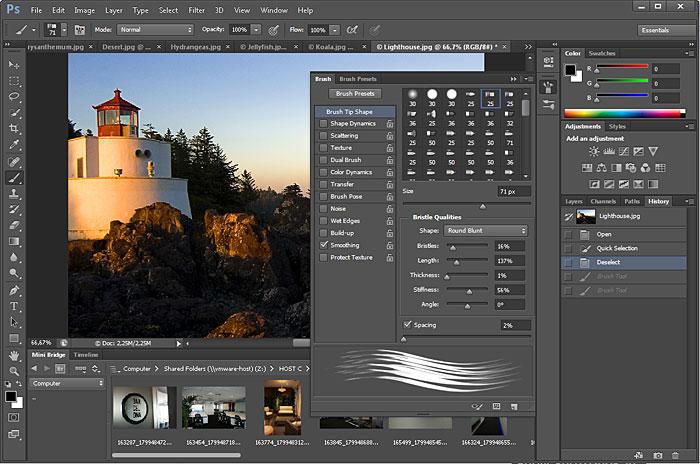 Giao diện của Adobe Photoshop CS6.