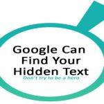 """Hidden Text – Thủ thuật """"cổ"""" trong ngành dịch vụ SEO"""