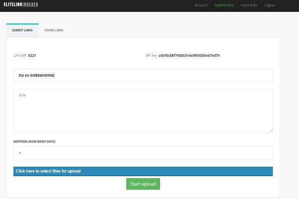 Submit URL bằng công cụ elite